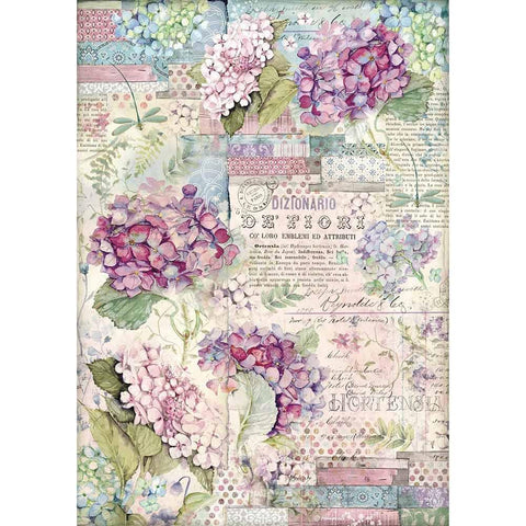 HORTENSIA Rice Paper by Stamperia (A3)