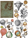 Dixie Belle Transfer - HOT AIR BALLOONS & CLOCKS (PRE-ORDER) - Rustic Farmhouse Charm