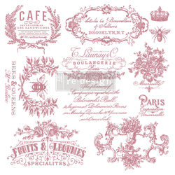 "I SEE PARIS Redesign Décor Stamp 12""x12"" - Rustic Farmhouse Charm"