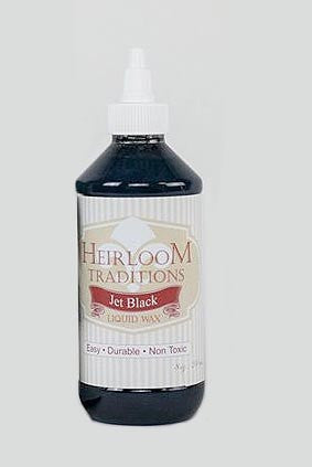 JET BLACK Liquid Wax 8oz (226g) by Heirloom Traditions Paint