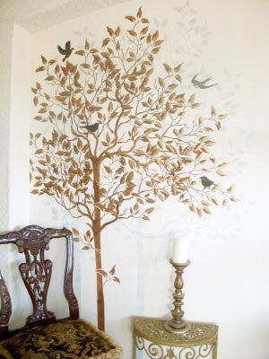 Large Tree Painting Stencil by Victoria Larsen