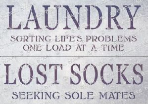 Laundry Signs Pair (A3)