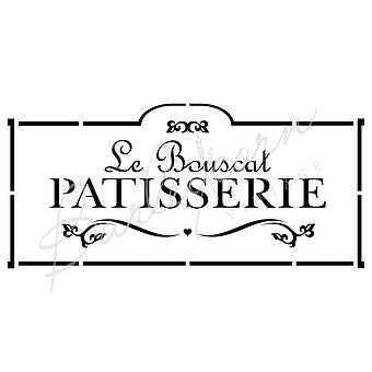Le Bouscat Patisserie French Stencil by Barleycorn Vintage