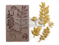 LEAFY BLOSSOMS Redesign Mould - Rustic Farmhouse Charm