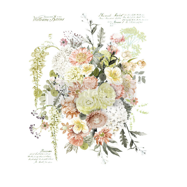 LIFE IN FULL BLOOM Redesign Transfer (60.96cm x 88.9cm) - Rustic Farmhouse Charm