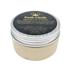 LIGHT GOLD Smooth Metallic Paste by Posh Chalk (110ml)