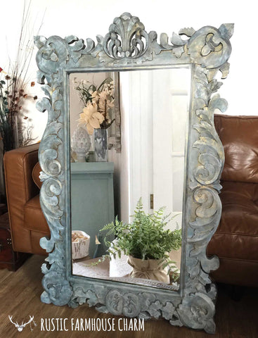 XL Ethereal Stone Ornate Mirror