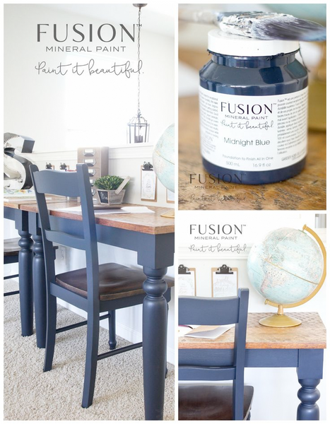MIDNIGHT BLUE Fusion™ Mineral Paint - Rustic Farmhouse Charm
