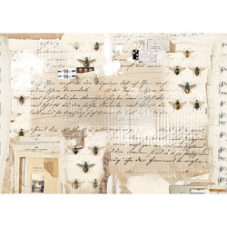 MYSTERIOUS NOTES Redesign Rice Paper 29.2cm x 41.3cm - Rustic Farmhouse Charm