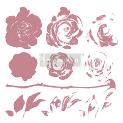 "MYSTIC ROSE Redesign Décor Stamp 12""x12"" - Rustic Farmhouse Charm"