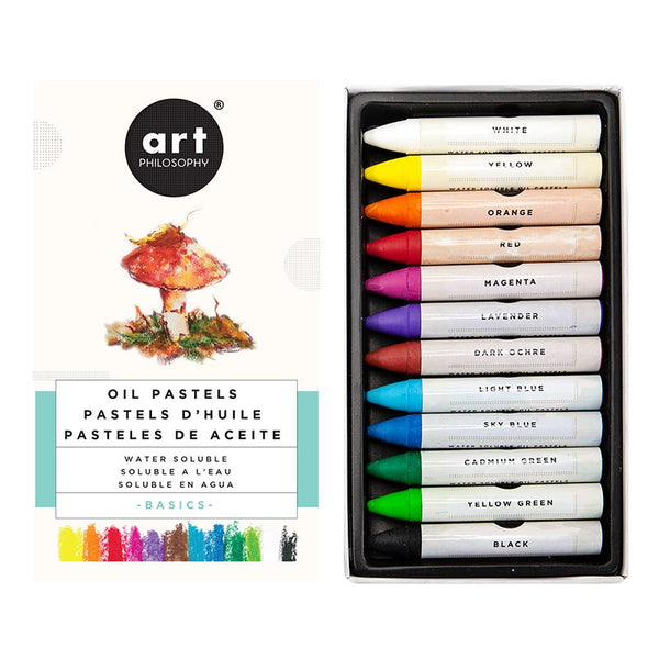 PRE-ORDER by 25 June 7pm WST: REDESIGN Water-Soluble Oil Pastels - Basics
