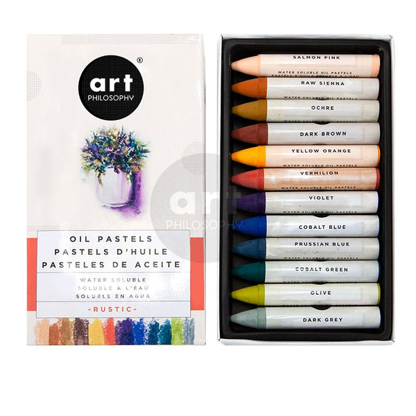PRE-ORDER by 25 June 7pm WST: REDESIGN Water-Soluble Oil Pastels - Rustic