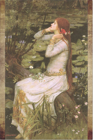 Decoupage Tissue Paper - John Waterhouse Painting 'Ophelia by the Pond' (50.8cm x 76.2cm) - Rustic Farmhouse Charm