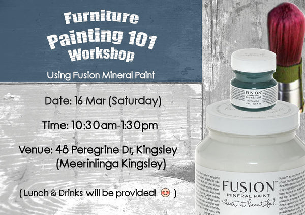 Furniture Painting 101 with Fusion™ products (16 Mar, Sat)