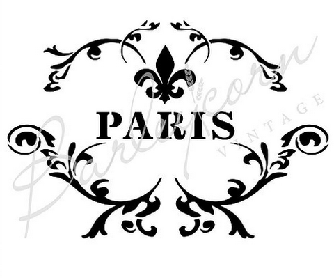 Paris Festoon Stencil by Barleycorn Vintage