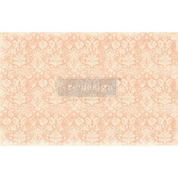 PEACH DAMASK Redesign Decoupage Paper (76.2cm x 48.26cm)