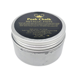 PEARL SILVER Smooth Metallic Paste by Posh Chalk (110ml)