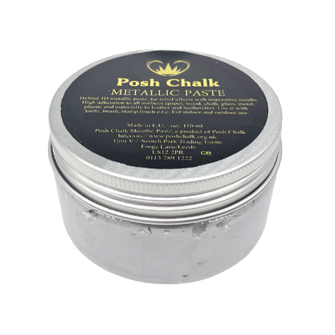 PEARL SILVER Smooth Metallic Paste by Posh Chalk (110ml) - Rustic Farmhouse Charm