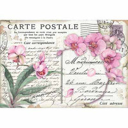 PINK ORCHID Rice Paper by Stamperia (48cm x 33cm) - Rustic Farmhouse Charm