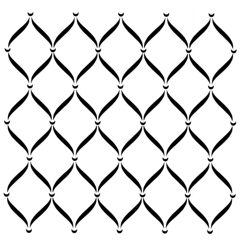 POSH TRELLIS Stencil by Posh Chalk Interiors (80cm x 80cm) - Rustic Farmhouse Charm