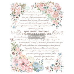 PURE LIGHT FLORAL Redesign Transfer (60.96cm x 88.9cm) - Rustic Farmhouse Charm