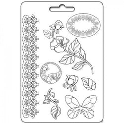 ROSE & BORDER Soft Maxi Mould by Stamperia (A4)