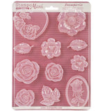 ROSES Soft Maxi Mould by Stamperia (A4) - Rustic Farmhouse Charm