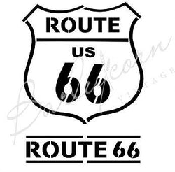 Route 66 A4 Stencil by Barleycorn Vintage