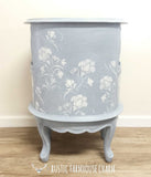 Floral Carved Indian Side Table with Drawers