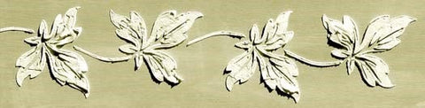 Scalloped Leaf Vine Plaster Stencil by Victoria Larsen - Rustic Farmhouse Charm