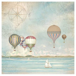 SEA LAND BALLOONS Rice Paper Napkin by Stamperia (49.5cm x 49.5cm)