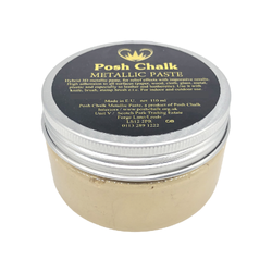 SHINY GOLD Smooth Metallic Paste by Posh Chalk (110ml)