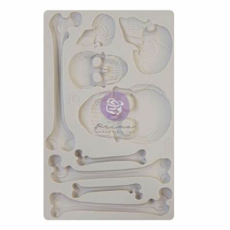 SKULL & BONES Mould by Finnabair - Rustic Farmhouse Charm