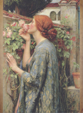 Decoupage Tissue Paper - John Waterhouse Painting 'The Soul of the Rose' (2 sizes) - Rustic Farmhouse Charm