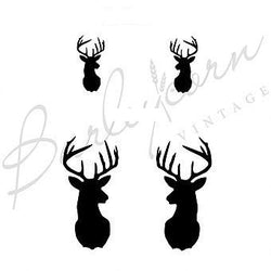 Stag's Head (Small) Stencil by Barleycorn Vintage