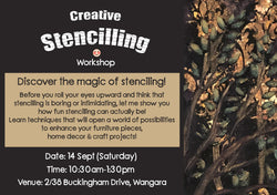 "Workshop: ""Creative Stencilling"" (14 September 2019, Sat)"