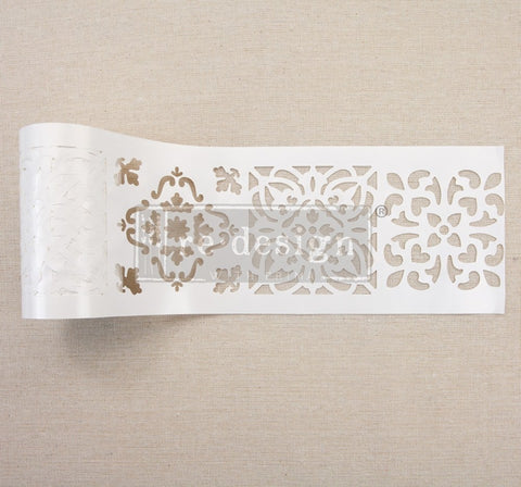 "Redesign Stick & Style Stencil Roll - Casa Blanca Tile 4"" x 15 yds (13.716m) - Rustic Farmhouse Charm"