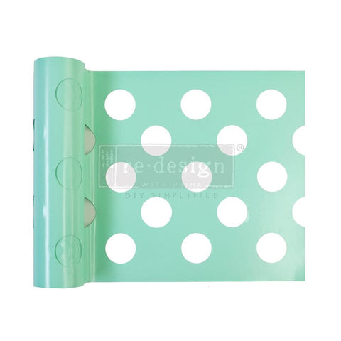 MULTI-LARGE DOT Stick & Style Stencil Roll (Design size 15.24cm x 274cm) - Rustic Farmhouse Charm