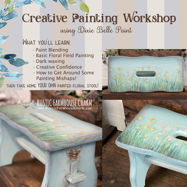 "Workshop: ""Creative Painting using Dixie Belle Paint"" (27 Jun 2020, Sat) - Rustic Farmhouse Charm"