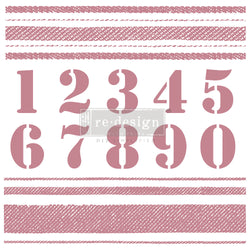 "STRIPES Redesign Décor Stamp 12""x12"" - Rustic Farmhouse Charm"