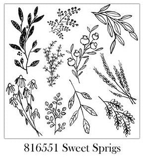 IOD Décor Stamp: Sweet Sprigs - Rustic Farmhouse Charm