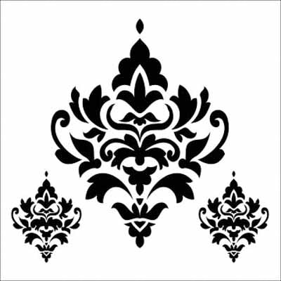 "DAMASK DECOR Stencil by The Crafters Workshop (12""x12"")"