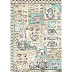 TEA TIME Rice Paper by Stamperia (A3)