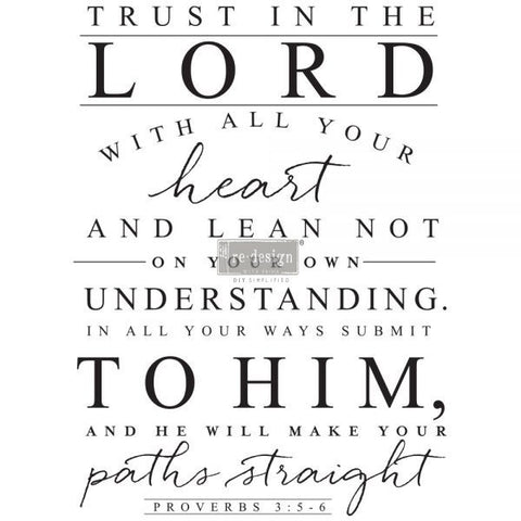 TRUST IN THE LORD Redesign Transfer (81.28cm x 60.96cm)