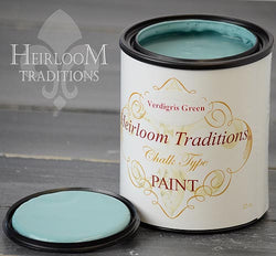 VERDIGRIS GREEN (by Refunk My Junk) Heirloom Traditions Paint - Rustic Farmhouse Charm