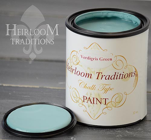 VERDIGRIS GREEN (by Refunk My Junk) Heirloom Traditions Paint