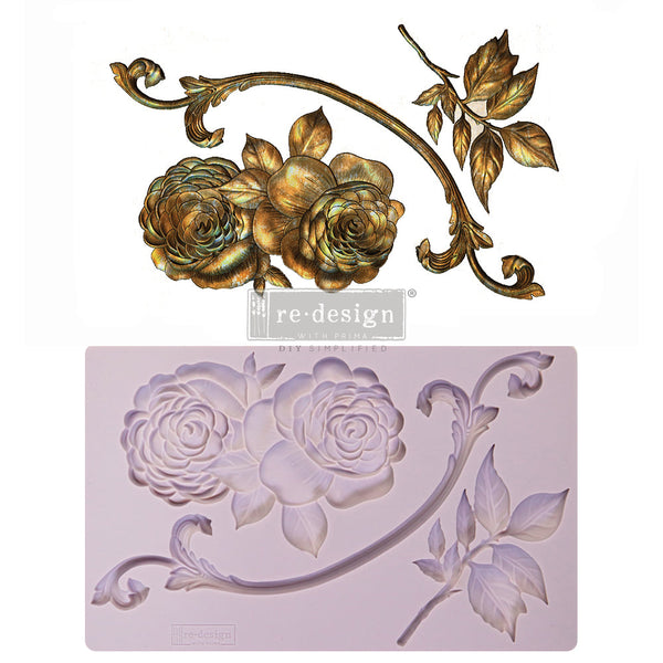 VICTORIAN ROSE Redesign Mould - Rustic Farmhouse Charm
