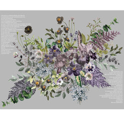 VIGOROUS VIOLET Redesign Transfer (121.92cm x 88.9cm) - Rustic Farmhouse Charm