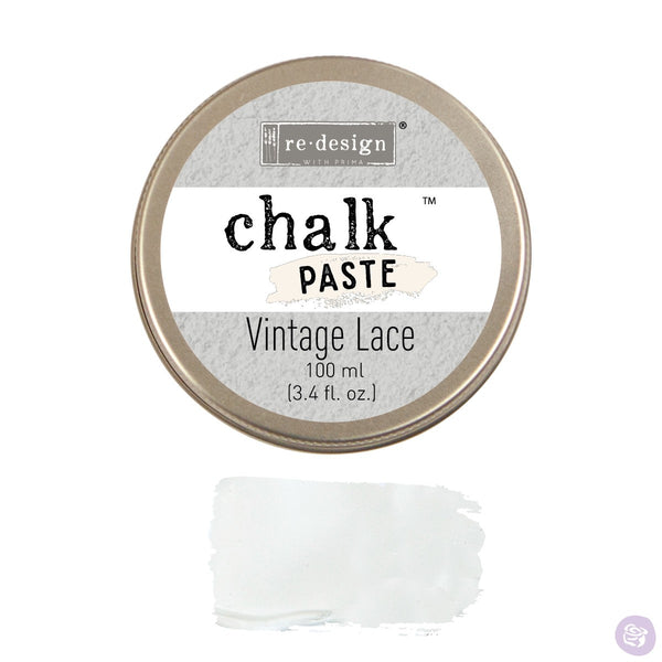 VINTAGE LACE Redesign Chalk Paste 100ml - Rustic Farmhouse Charm