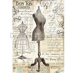 VINTAGE MANNEQUIN Rice Paper by Stamperia (A4) - Rustic Farmhouse Charm